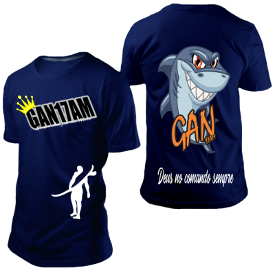 Camisa GAN Tubarão Azul Marinho