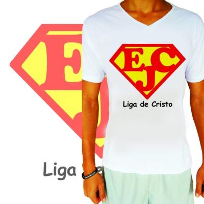 Camisa EJC Liga De Cristo Branca