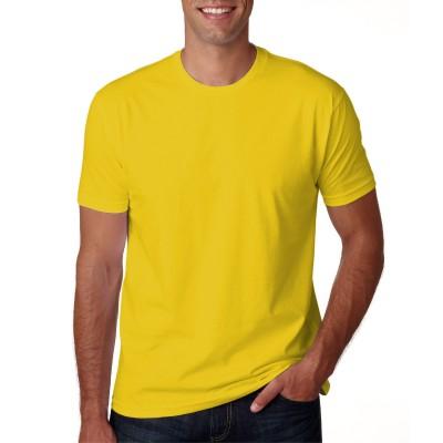 Camisa Lisa Amarela - Malha 100% Algodão