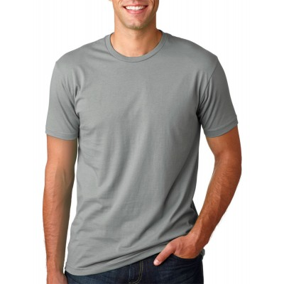 Camisa Lisa Cinza - Malha 100% Algodão