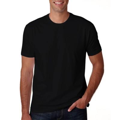 Camisa Lisa Preta - Malha 100% Algodão