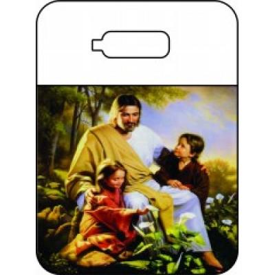 Lixeira para carro Jesus e as crianças