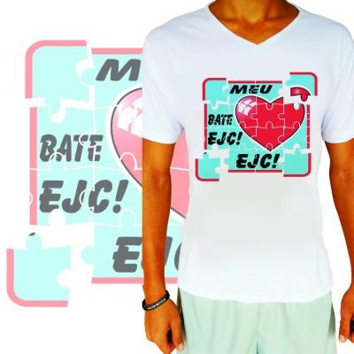 Camisa Meu Coração Bate EJC Branca