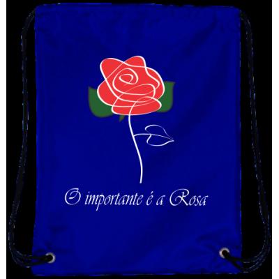 Mochila O Importante é a Rosa Oxford Azul Royal