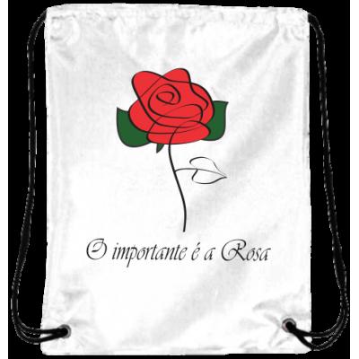Mochila O Importante é a Rosa Oxford Branca