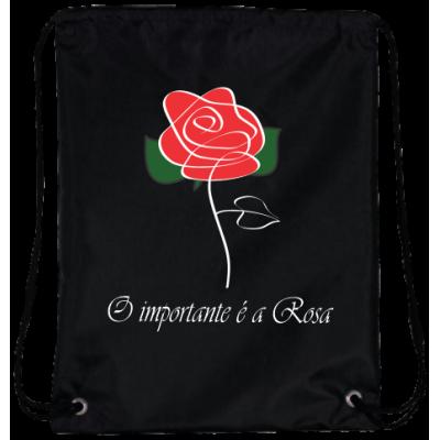 Mochila O Importante é a Rosa Oxford Preta