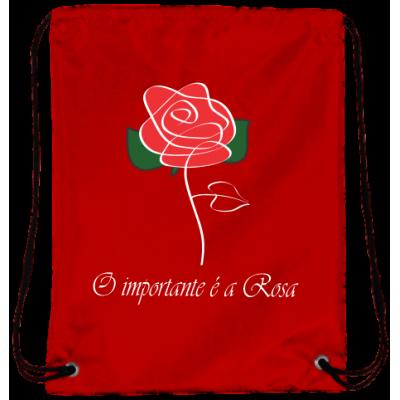 Mochila O Importante é a Rosa Oxford Vermelha