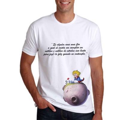 Camisa Pequeno Príncipe Ama Uma Flor