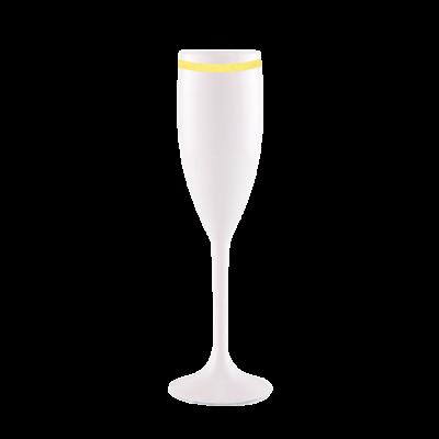 Taça de Champanhe Branca com Borda
