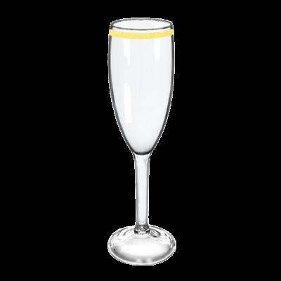 Taça de Champanhe Transparente com Borda