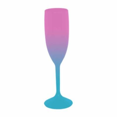 Taça de Champanhe Bicolor Rosa e Azul Tiffany