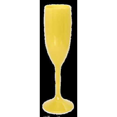Taça de Champanhe Amarela