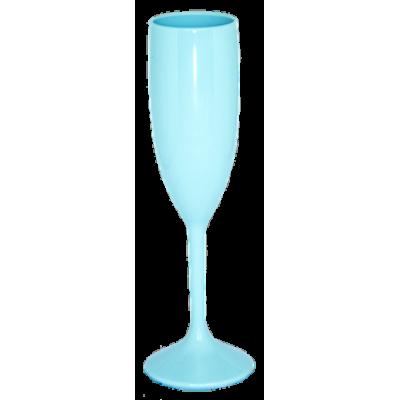 Taça de Champanhe Azul Bebê