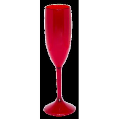 Taça de Champanhe Vermelha