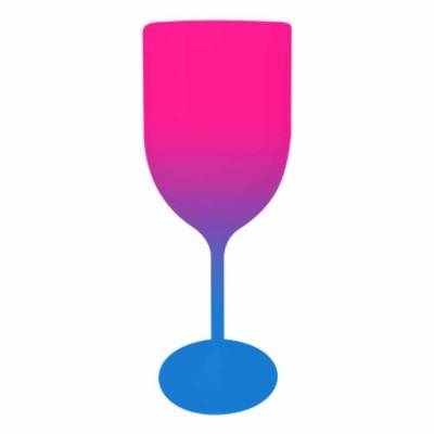 Taça de Vinho Bicolor Rosa e Azul Royal