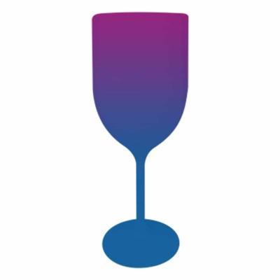 Taça de Vinho Bicolor Roxo e Azul
