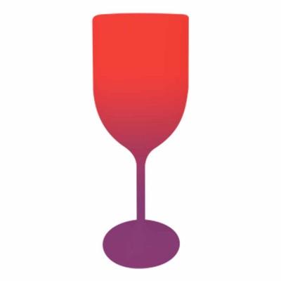 Taça de Vinho Bicolor Vermelho e Roxo